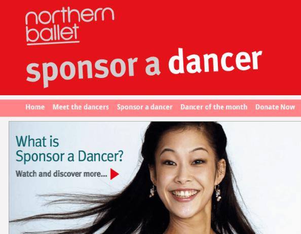 Работа со спонсорами пример Northern Ballet's
