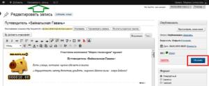 Как редактировать свой профиль и описание проекта