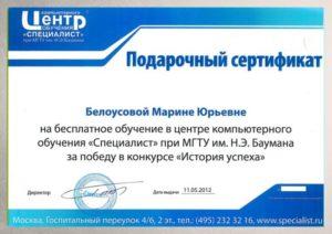 """Конкурс """"История успеха"""", 2012"""